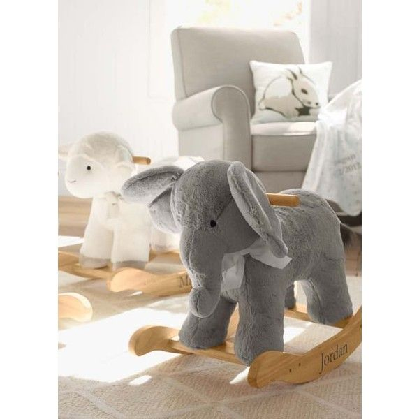 ed1f1c0a0782 Elephant Plush Rocker ❤ liked on Polyvore featuring home ...
