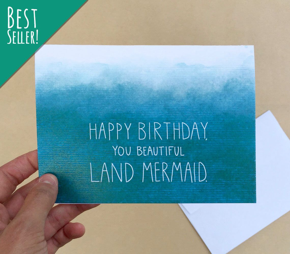 Land mermaid 4 x 6 birthday card parks and rec mermaid friends land mermaid 4 x 6 birthday card parks and rec mermaid kristyandbryce Image collections