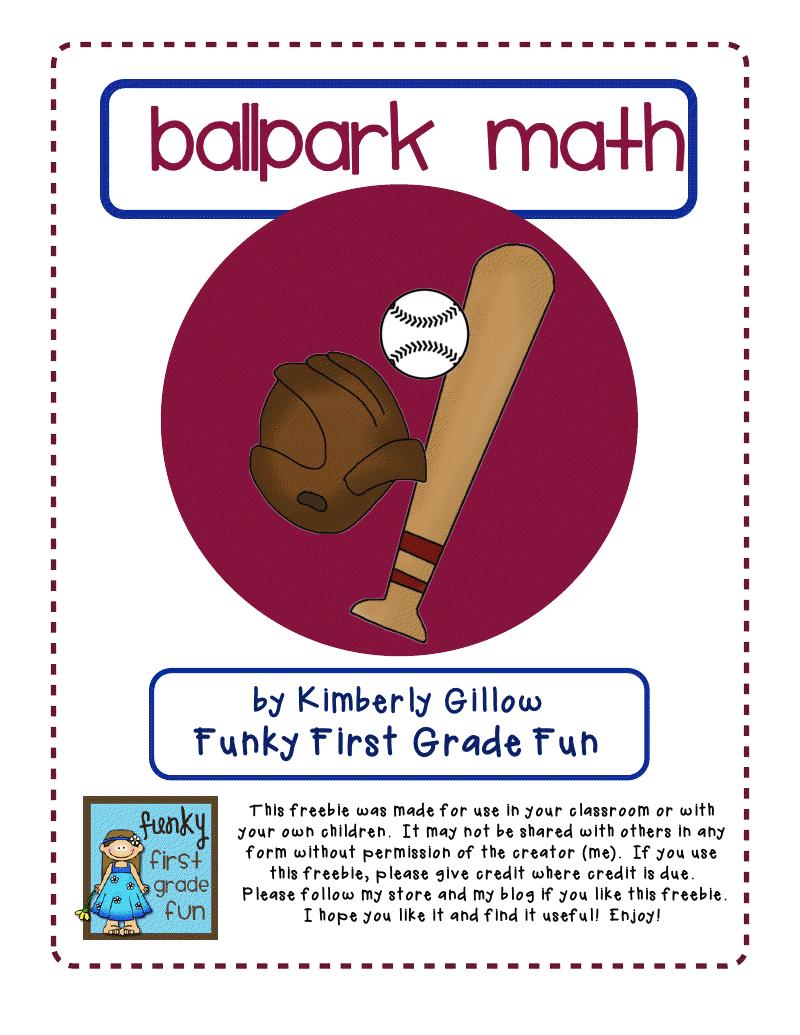 Ballpark Common Core Math Pdf Google Drive Teaching Mathematics 1st Grade Activities Math