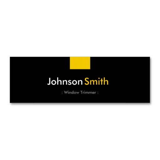 Window trimmer amber yellow compact business card template window trimmer amber yellow compact business card template fbccfo Image collections