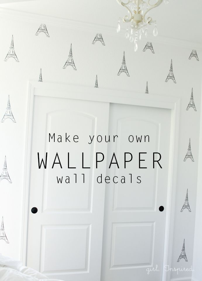 Eiffel Tower Vinyl Wallpaper - how to make your own wallpaper wall decals with your Silhouette & Eiffel Tower Vinyl Wallpaper   Pinterest   Tower Wall decals and ...