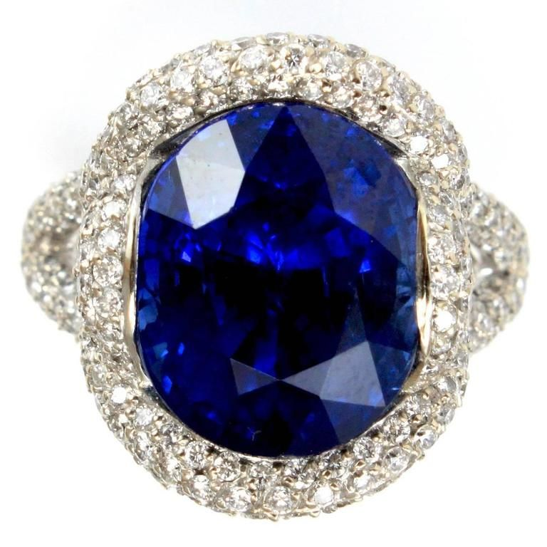 140 000 Mauboussin Paris Unheated 12 Carat Burma Sapphire Diamond Ring From A Unique Collect Jewelry Rings Diamond Sapphire Diamond Ring Sapphire Jewelry