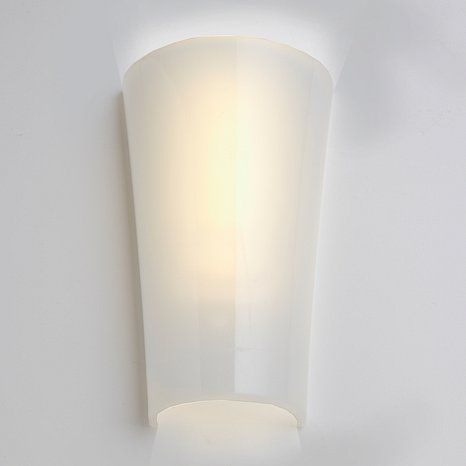 Battery Operated Wall Sconces Pinterest : Wireless Battery-Powered LED Wall Sconce - White Shade at HSN.com Lighting Pinterest Wall ...