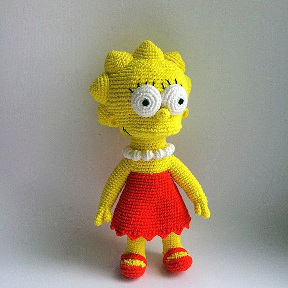 661cdc9d9 Lisa Simpson By The Simpsons, PDF CROCHET PATTERN, Instant Download ...