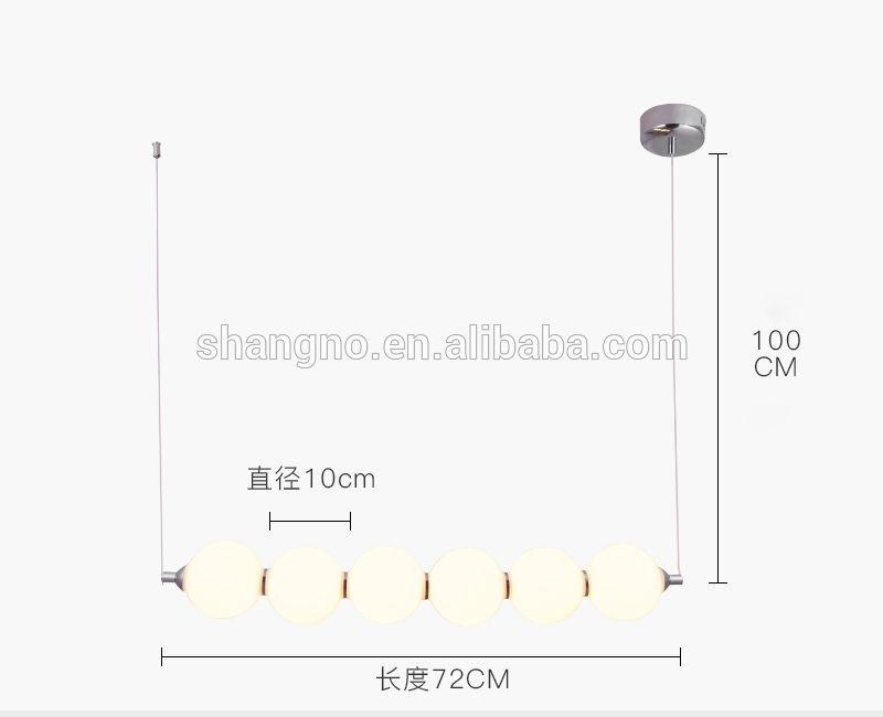 Photo of Modern luxury glass ball lamp shade LED chandeliers pendant lights for living room bedroom li…