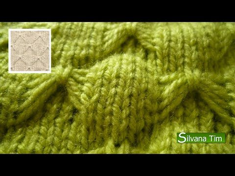 Cómo Tejer Punto Colmena Bordado-How to Knit Honeycomb Stitch 2 ...