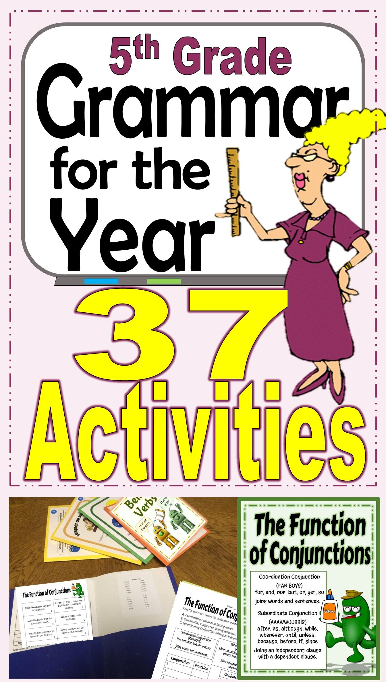 Grammar Center Activities For The Year Back To School