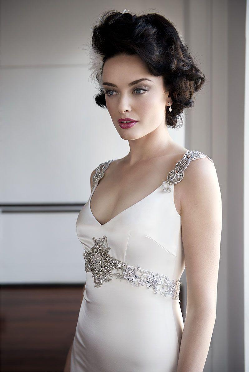 Swarovski wedding dress pearl bridal collection western