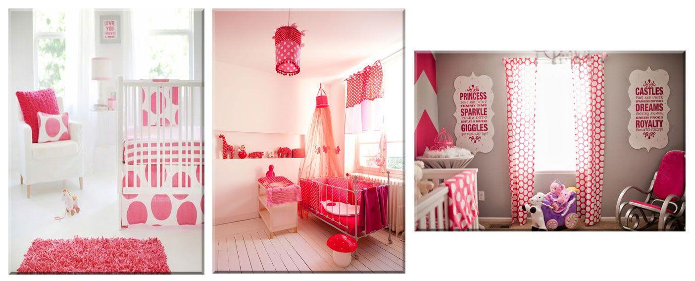 Ambiance chambre bébé fushia - rose | Idée chambre bébé fille ...