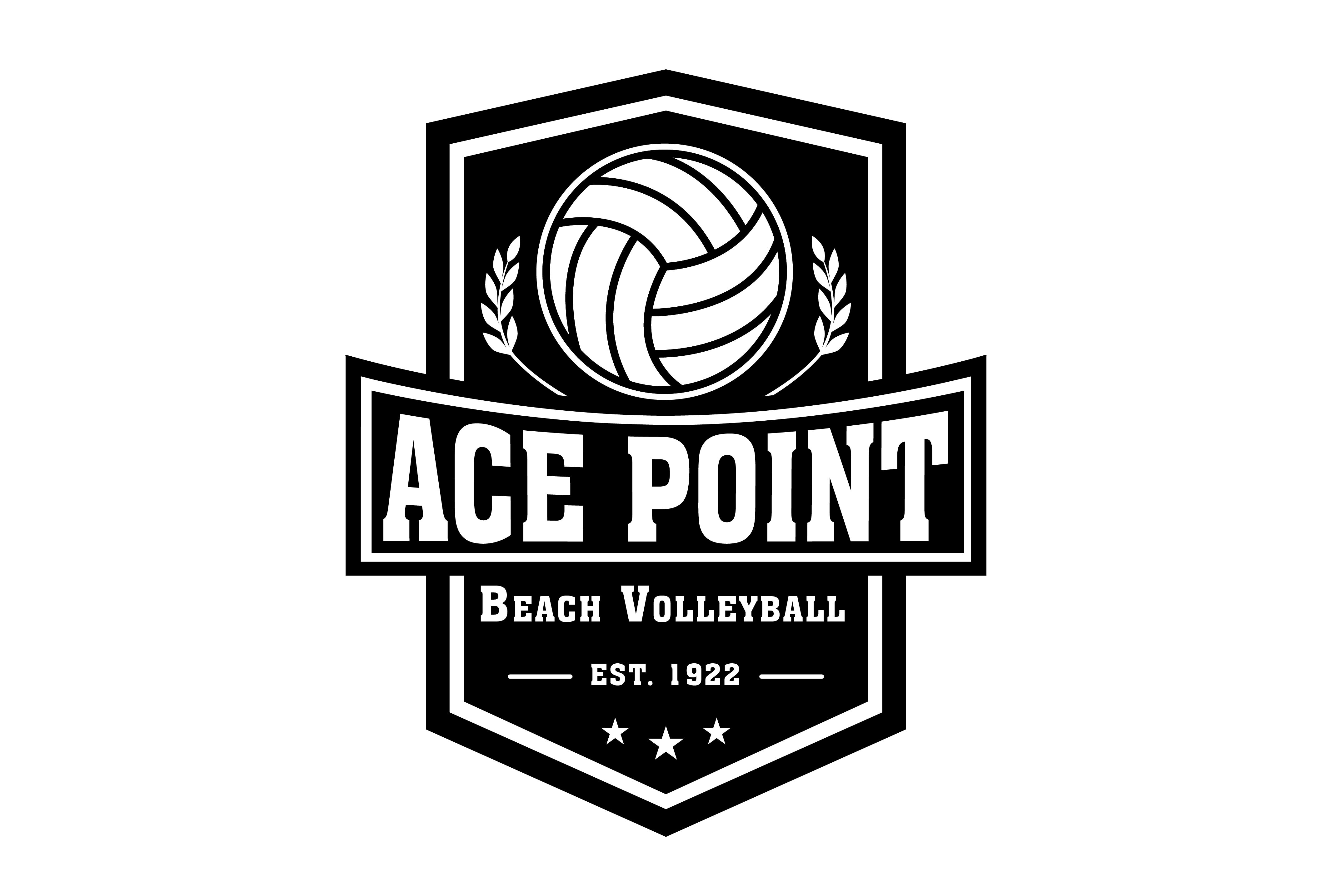 The Pinnacle Of Beach Volleyball Ace Point Beach Volleyball Brand Vintage Logo Desain