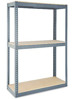 Wide Span Storage Rack 36 X 18 X 84 Particle Board By Uline 119 00 Wide Span Storage Racks Store And Unload Heavy Storage Particle Board Storage Rack