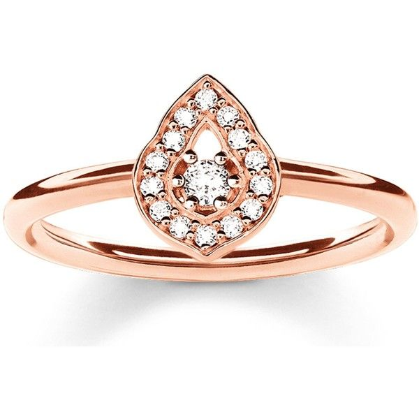 Thomas Sabo Fatima S Garden Rose Gold Plated And Zirconia Pave 73 Liked On Polyvore Featuring Jewelr Rose Gold Plated Ring Thomas Sabo Rose Gold Plates