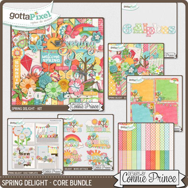 Spring Delight - Bundle :: Gotta Pixel Digital Scrapbook Store by Connie Prince
