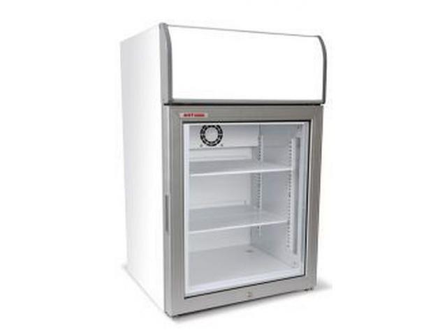 Counter Top Glass Door Freezer Display Merchandiser For Ice Cream Foods
