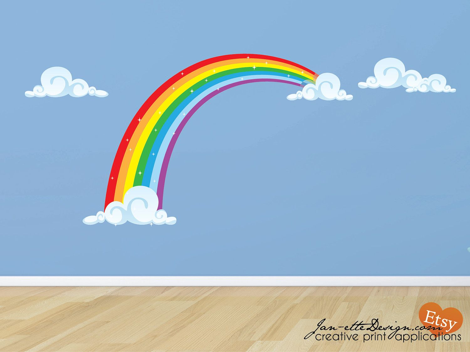 Rainbow Fabric Wall Decal Rainbow Wall Sticker Rainbow Wall