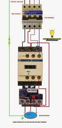 Como Conectar Un Contactor Trifasico Con Rele Termico Mas Pulsadores Curso De Electricidad Industrial Proyectos Eléctricos Electricidad Industrial