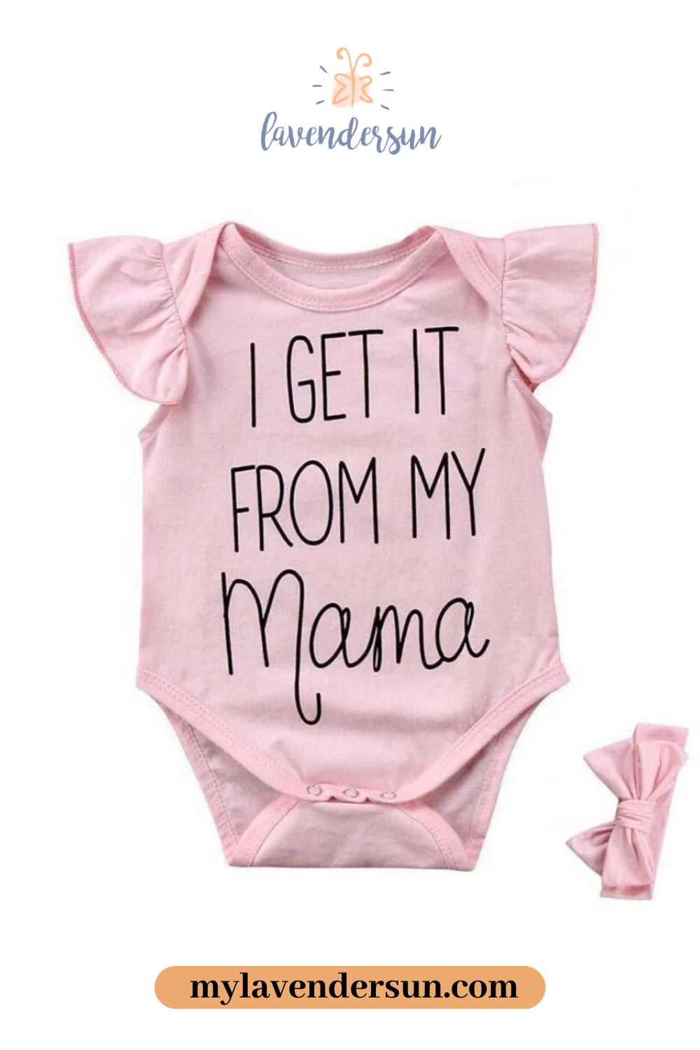 I Get It From My Mama Onesie  Cute baby onesies, Baby clothes