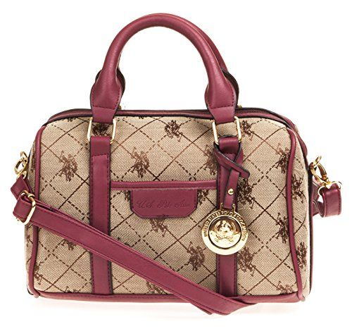 U.S. Polo ASSN. Designer Handbags Women s Logo Jacquard Mini Satchel Bag  (More Colors Available) a2458981351ac
