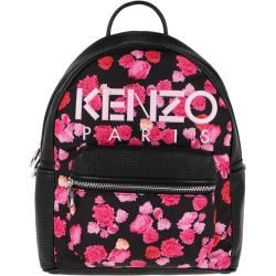 Photo of Kenzo Nylon With Peony Flower Print Backpack Begonia in schwarz Rucksack für Damen Kenzokenzo