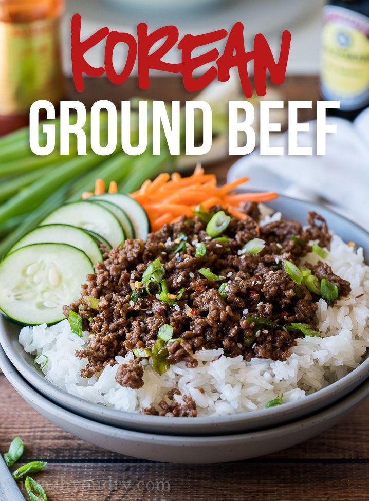 Easy Korean Ground Beef Recipe Recipe Korean Ground Beef Ground Beef Recipes Beef Recipes