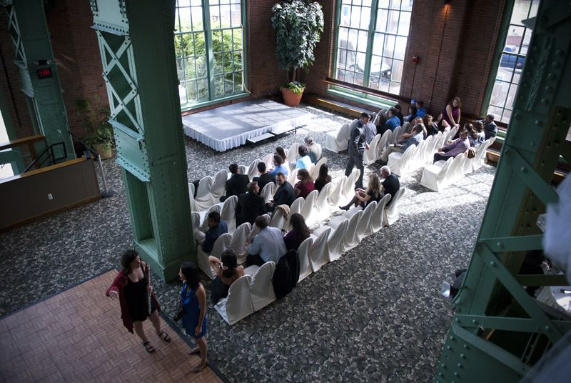 Ceremony In The City View Room Cleveland Area Wedding Venues Windows On River