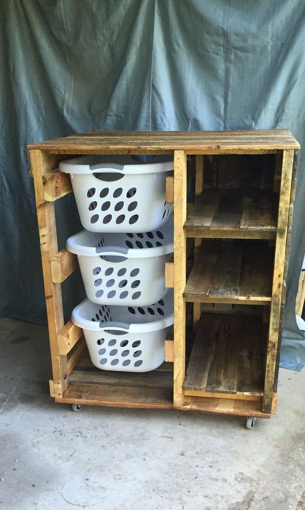 Laundry Basket Dresser (with shelves)