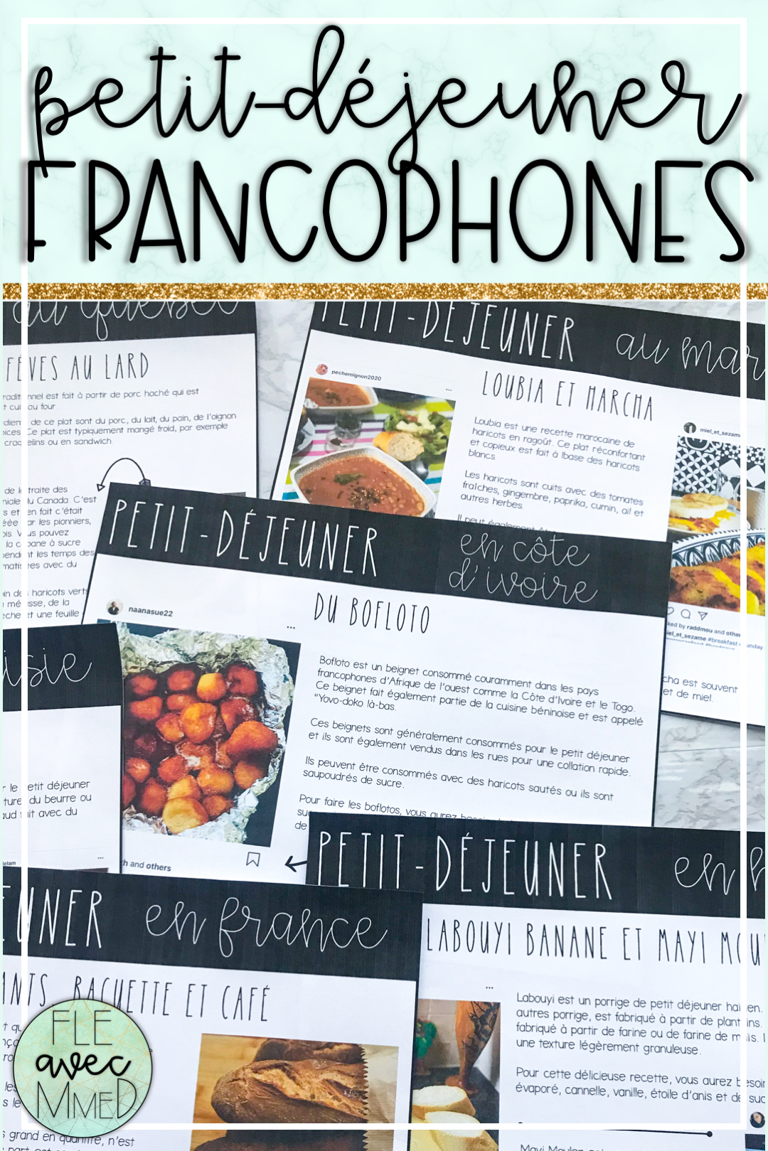 Petit Dejeuner Autour De La Francophonie French Speaking Activities French Resources Teaching French