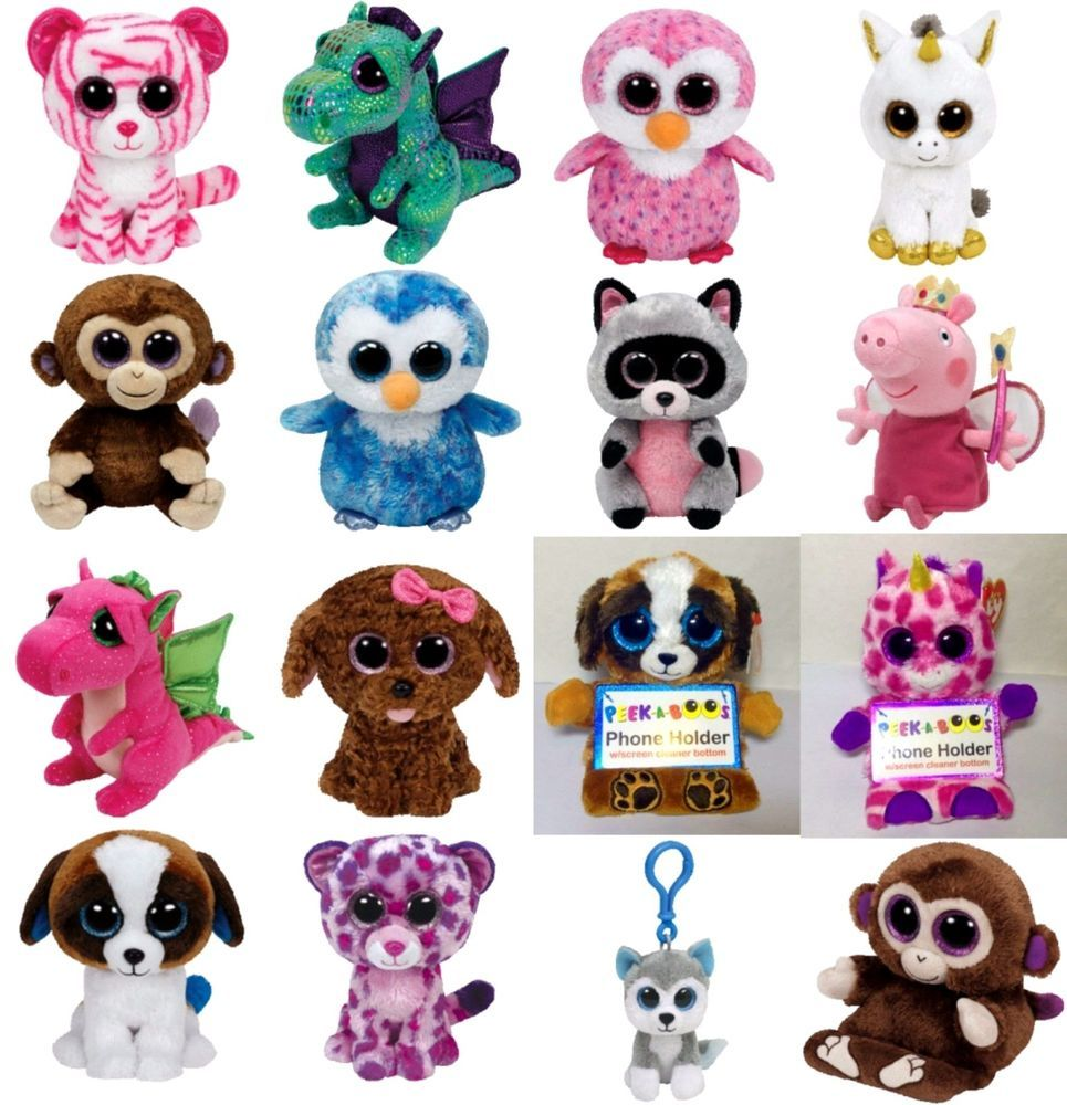 3f372ef75a4 Ty Beanie Boos 6   Peek a Boo   Beanie Boo Clips - Buy 2 or More Soft Toy  Plush
