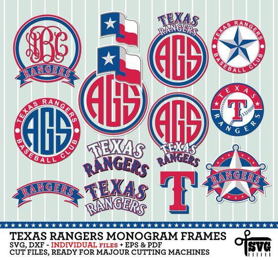 Texas Rangers Monogram Frames Individual By