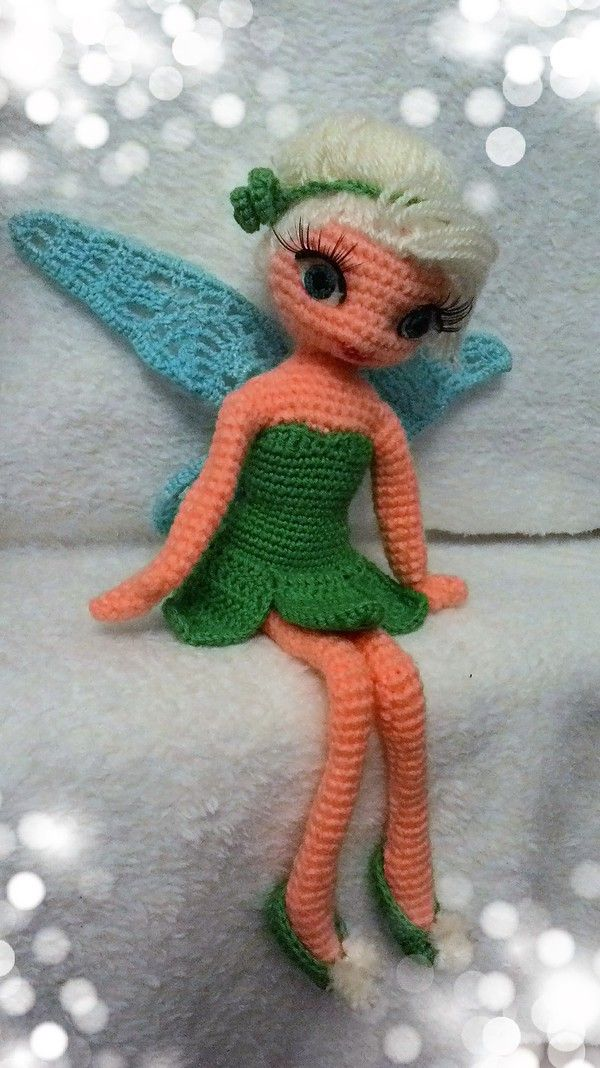 Häkelanleitung für Fee Tinkerbell | stricken | Pinterest | Crochet ...
