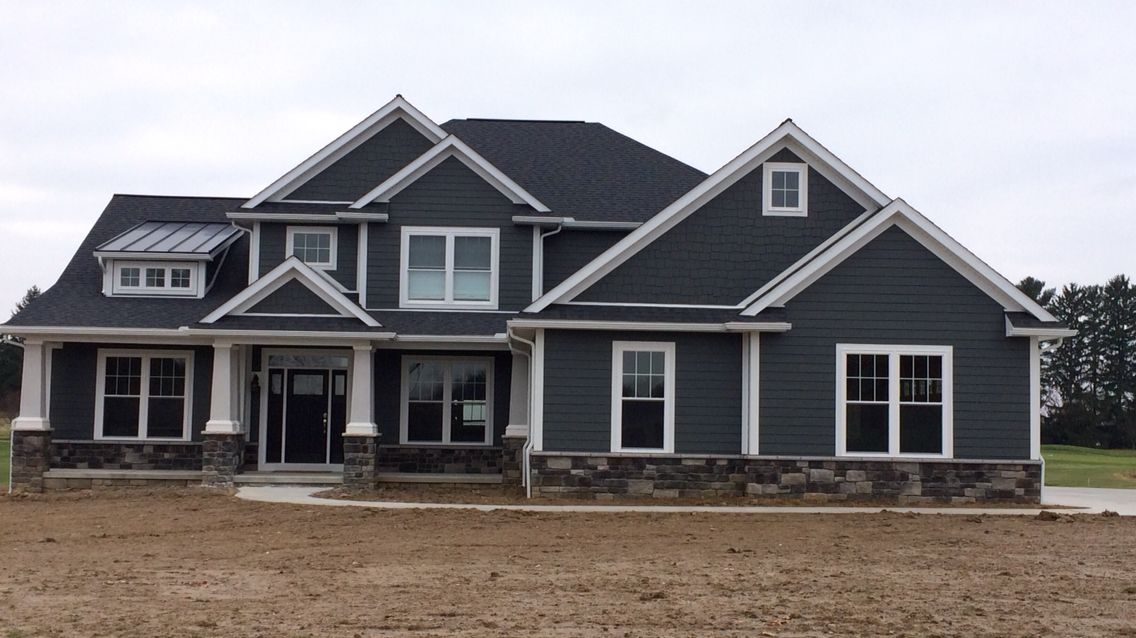Hardie iron gray siding house pinterest grey siding for Grey vinyl siding colors