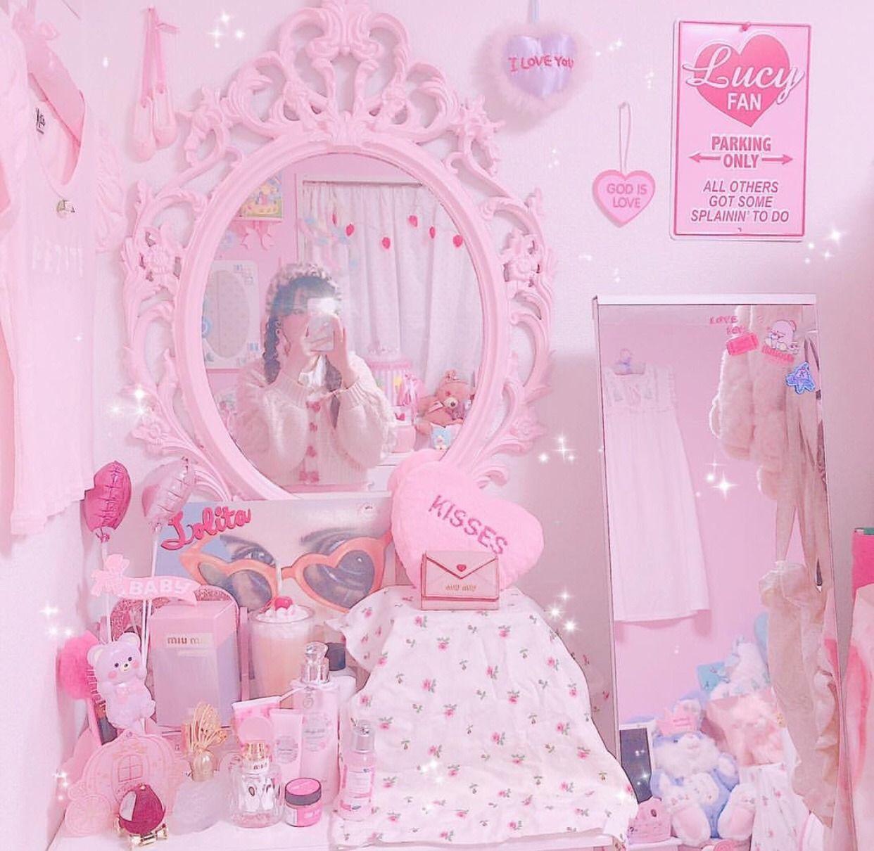 Larmegirl Pastel Pink Aesthetic Pastel Room Decor Cute Room Decor