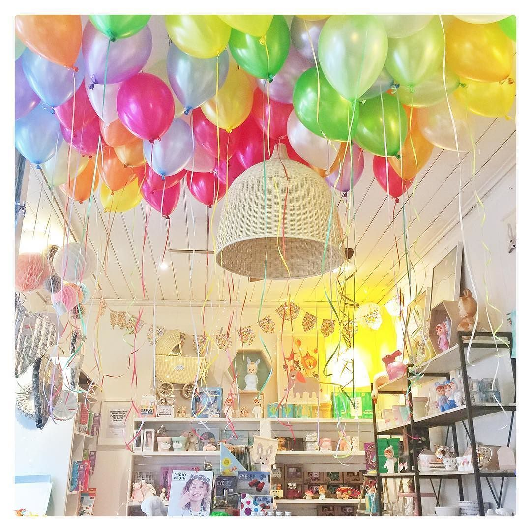 A happy little store just minutes before this 60 balloon order was collected. #happylittleshop #balloons #party #melbourne #yarraville #cuteshop by invitemeshop