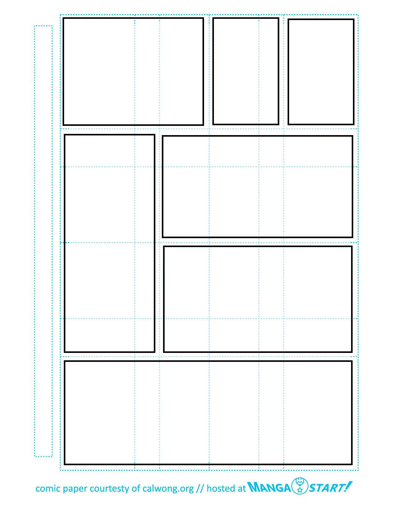 Printable Comic Strip Paper