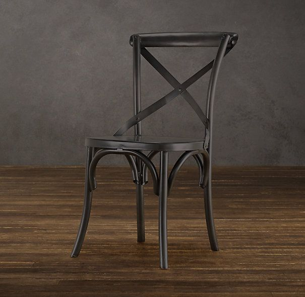 Click to Zoom             Metal Madeleine Side Chair     $149         Modeled after the most popular café chair in Europe, our versatile X-back dining chair pays homage to the bentwood tradition popularized by Thonet in 19th-century Austria.
