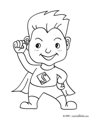 SUPERHERO coloring page … | Pinteres…