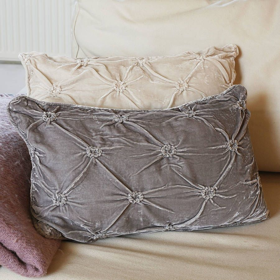Ruched velvet cushionwe love these fabulous ruched velvet cushions