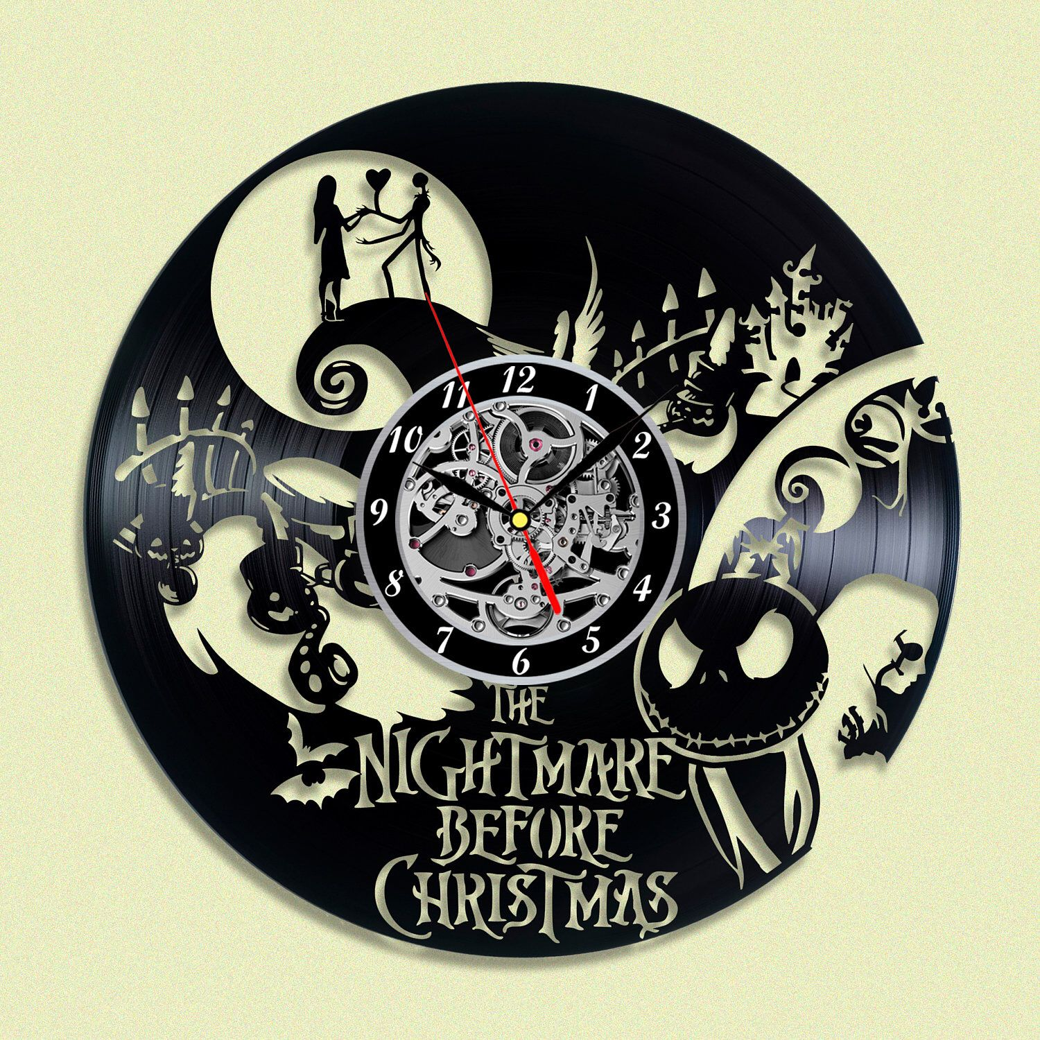Nightmare Before Christmas Gift Vinyl record clock Home design home ...