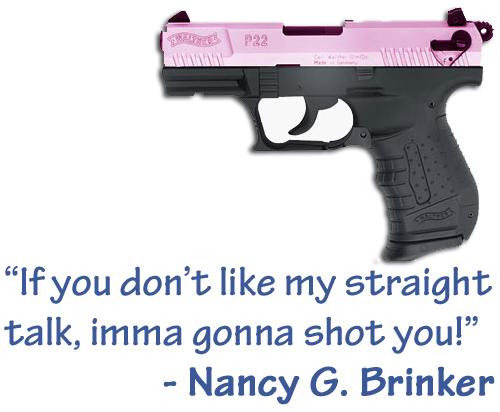 Komen Foundation offers pink handgun to promote Breast Cancer Awareness Month (true): http://zmb.me/zd5PQR