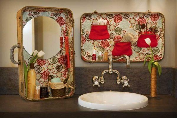 deko ideen für den alten koffer benutzen badezimmer ordnung home - ideen fürs badezimmer