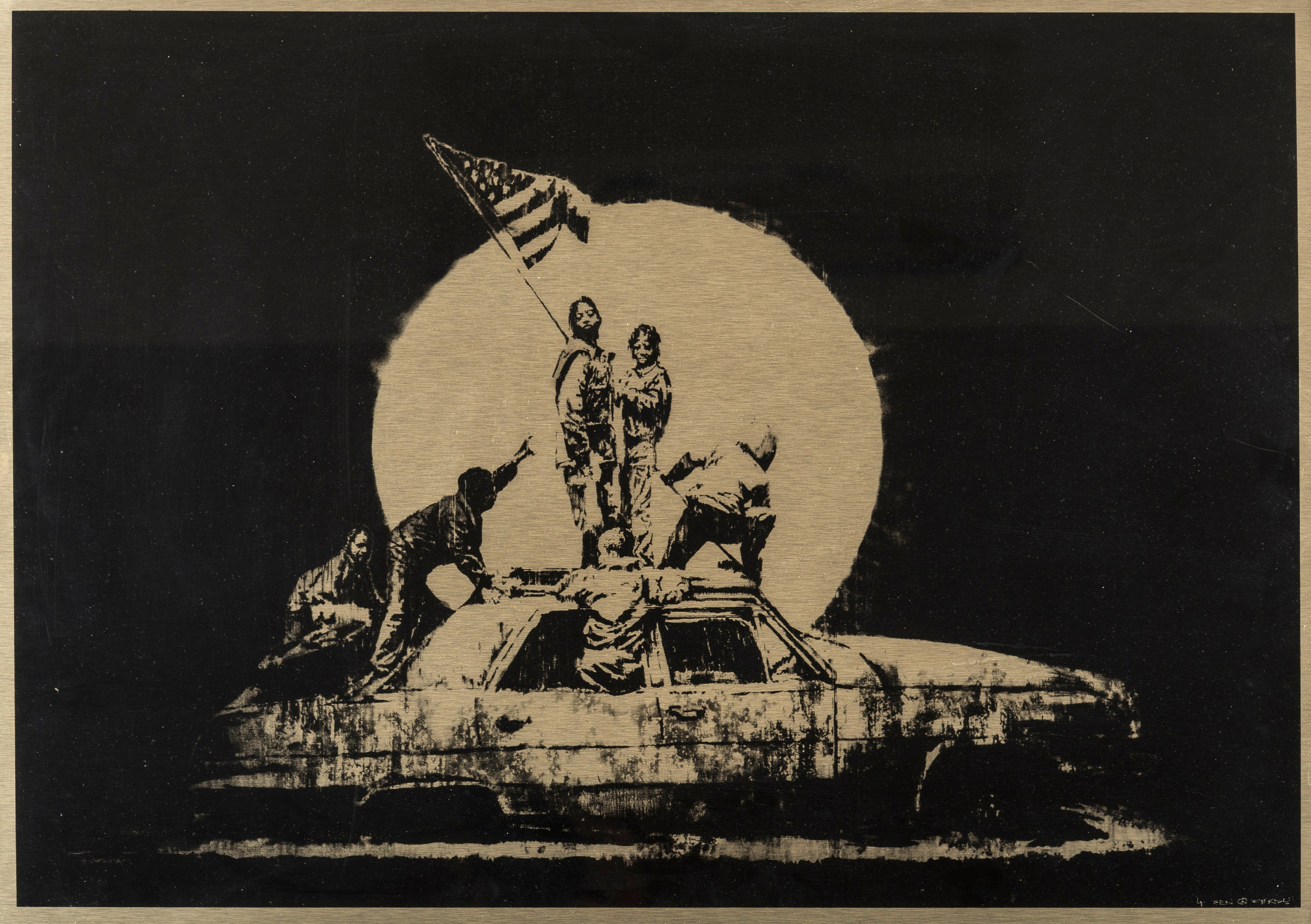 Banksy Artworks Up For Auction In New York In Pictures Banksy Artwork Banksy Banksy Art