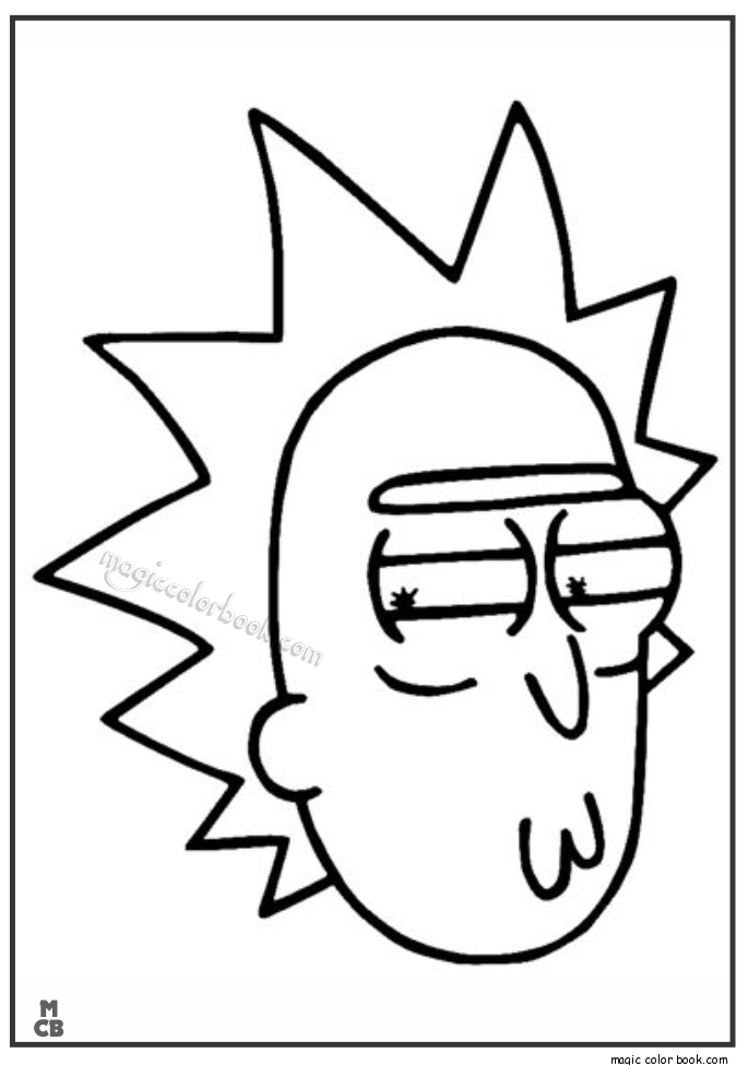 Rick-and-Morty-Coloring-Pages-02.png (685×975) | Coloring pages ...