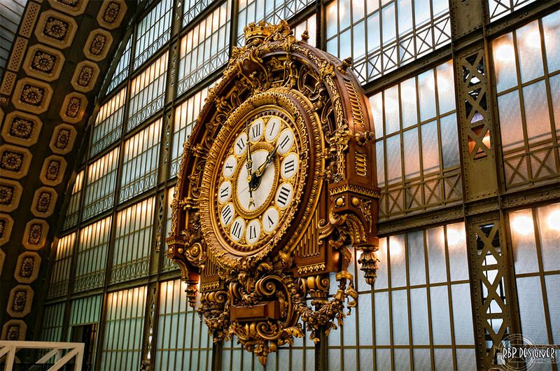 Beaux Arts clock in Musee d'Orsay, Paris....no surface left unadorned
