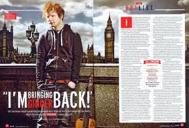 Double page spread magazine will