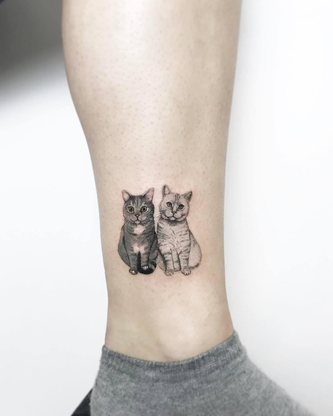 Pinterest @ kaybaabyyy | Leg tattoos, Cat tattoo simple