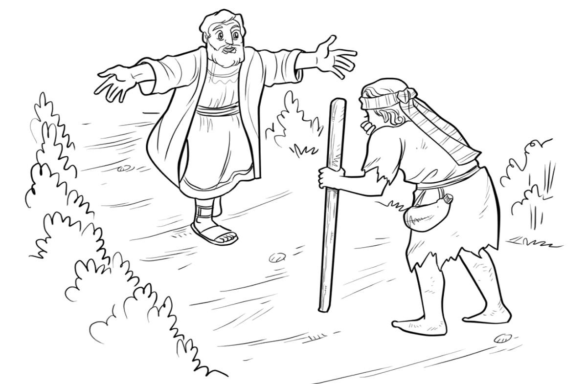 Prodigal Son Coloring Page 41 With Inside Prodigal Son