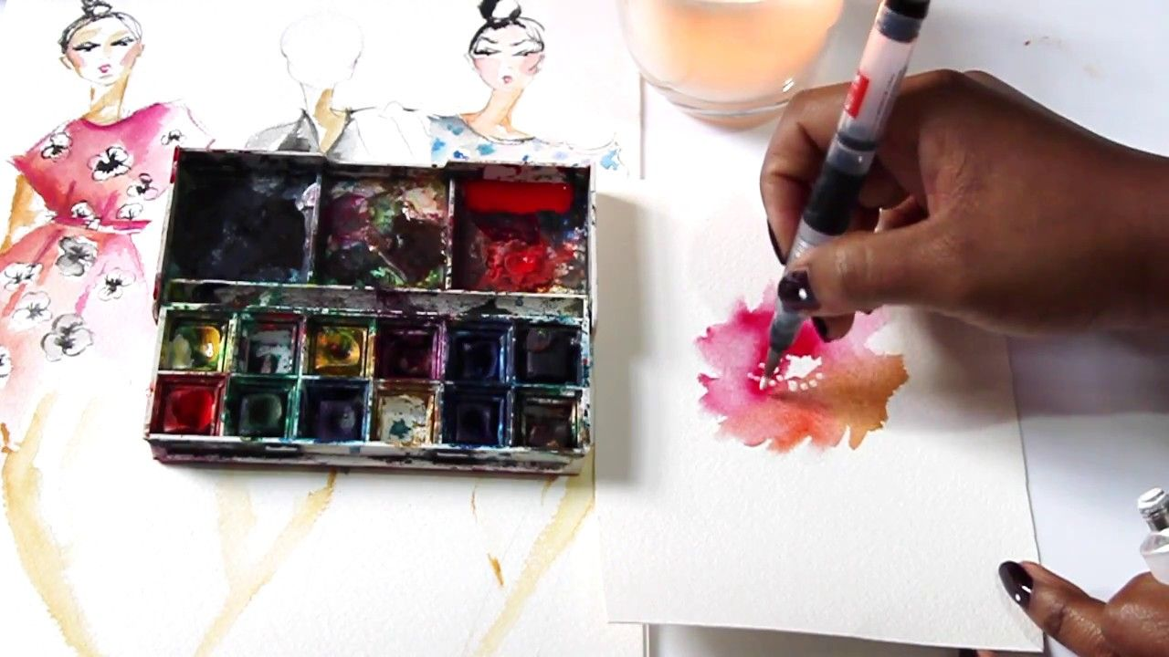 How To Use Watercolors On The Go Waterbrush Tutorial Watercolor