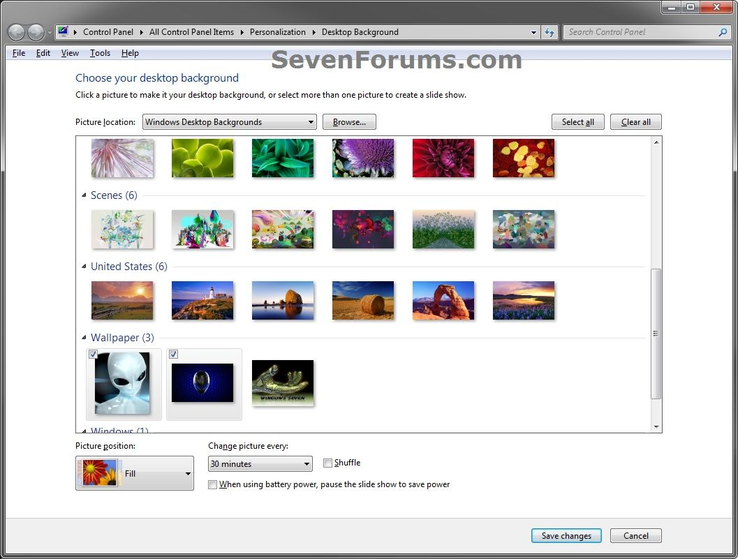 Desktop Background Wallpaper Change In Windows 7 Starter