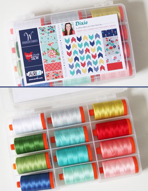 Allison Rencher Harris is gushing about her ‪#‎Dixie‬ threads today over on her blog, Cluck Cluck Sew! It's lovely to see how well each spool matches the fabrics in her brand new coordinating collection with Windham Fabrics. All the heart eyes for this one, indeed! For a chance to win a large thread collection, please visit: http://cluckclucksew.com/2016/07/dixie-and-aurifil.html To learn more about Allison's Dixie collection for Aurifil SKU ‬, please visit: http://www.aurifil.com/dixie