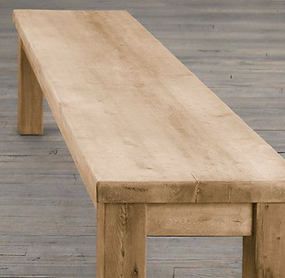 Genial The Perfect Coffee Table / Restoration Hardware. Wood Dining BenchWood ...